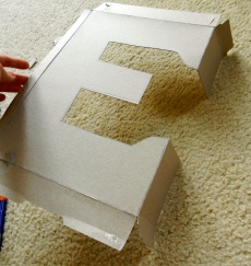 Attention to Balance DIY Cardboard Letter & Découpage!